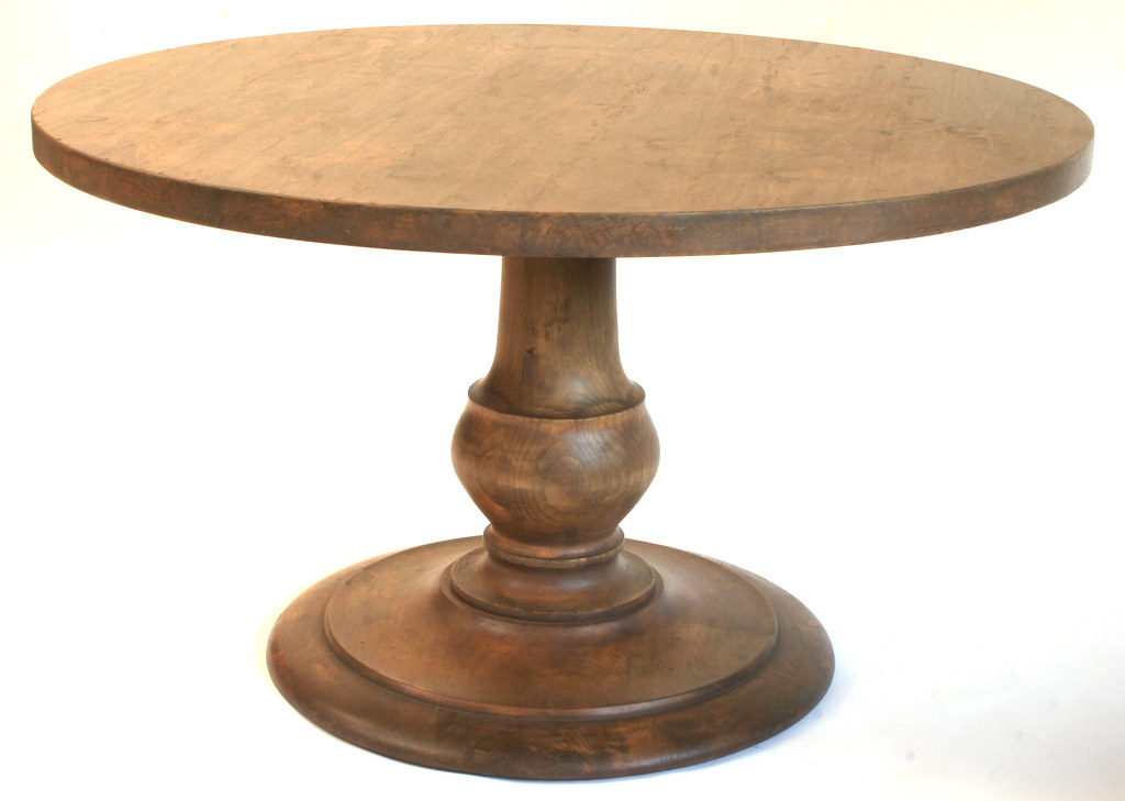 Round Dining Table 52 Inch: ROUND PEDESTAL TABLE WITH LEAVES. TABLE WITH LEAVES