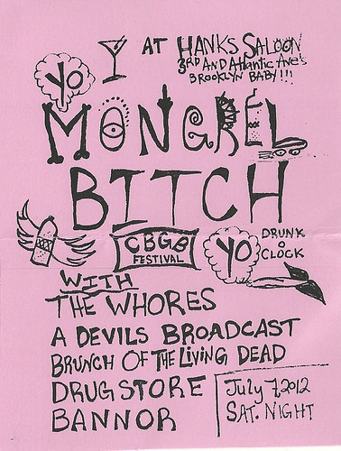 07/07/12 CBGB Festival: Mongrel Bith/The Whores @ Hanks Saloon, Brooklyn, NYC, NY