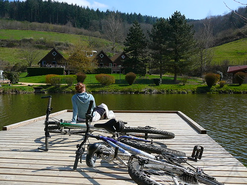 Arrêt repos au plan d'eau de Trades - Haut Beaujolais