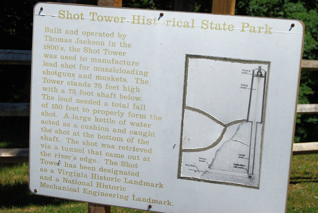 Shot Tower Historical State Park is quite unique