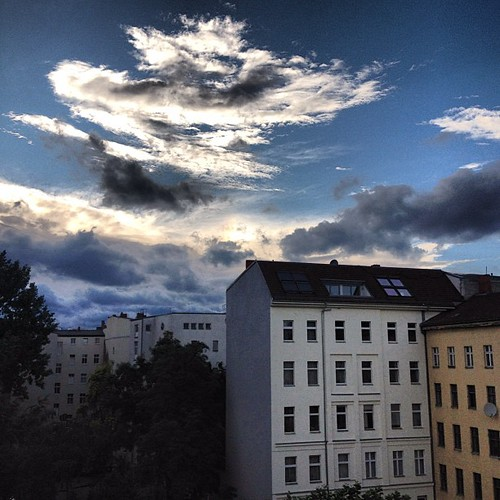 Rear window sunset, bodes well? #Berlin