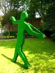 Javelin thrower sculpture in Knaresborough, North Yorkshire