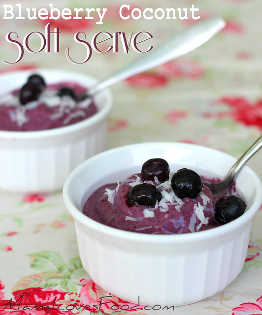 Blueberry Coconut Soft Serve