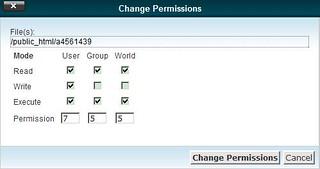 Change Permission Dialog