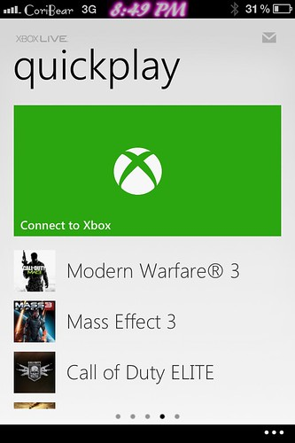 My Xbox live iPhone app