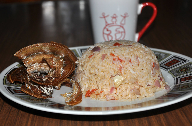 Ginisang Buro Rice with Crispy Fried Espada