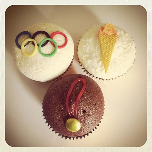 London 2012 Olympic cupcakes