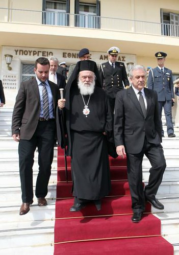 Με τον Αρχιεπίσκοπο Αθηνών & Πάσης Ελλάδος κ.κ. Ιερώνυμο (9/3/12)