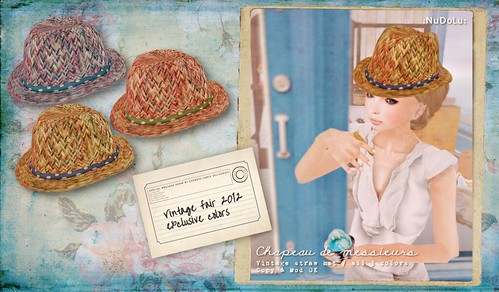 NuDoLu Chapeau de messieurs Vintage Fair SP AD