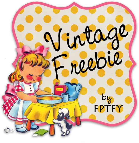 Free vintage clip art  digital frame by FPTFY web ex