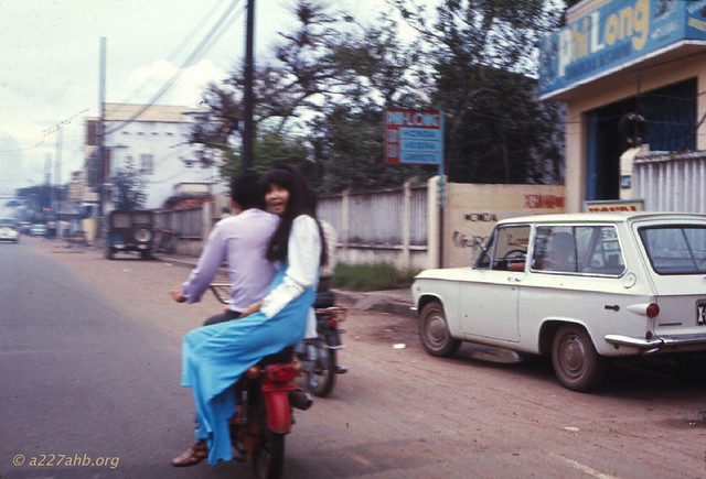 Saigon 1969 - How the locals traveled - Photo by Wayne Trucke