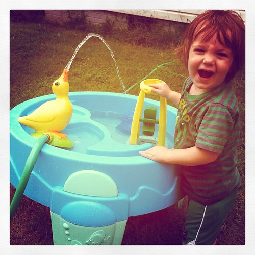 Killian's not here and Mick gets the water play duckie all to himself!