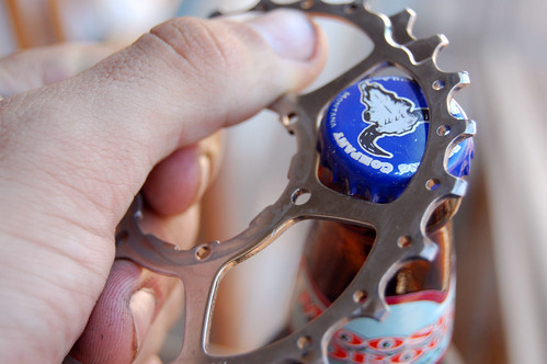 old cog, new  bottle opener