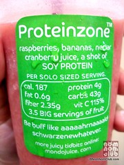 Proteinzone Back Sticker Label