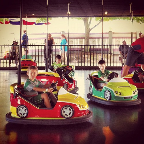 They've been waiting for bumper cars forever. #besttuesdayever