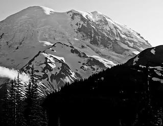 Frozen Lake Trail (pano, B&W)