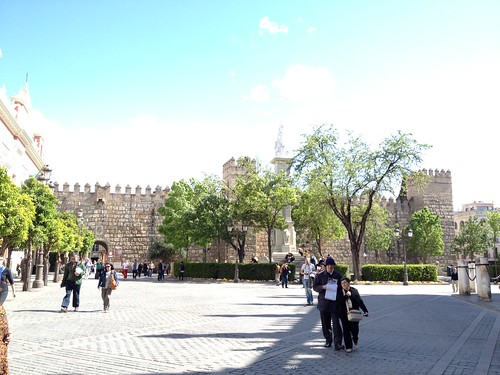 Seville Alcazar outside