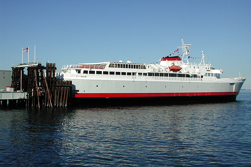 MV Coho Ferry docked at the terminal in Port Angeles, Olympic Peninsula, Washington, USA