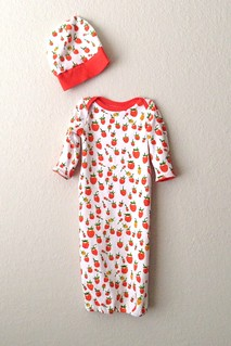 Briar Rose Knit baby gown