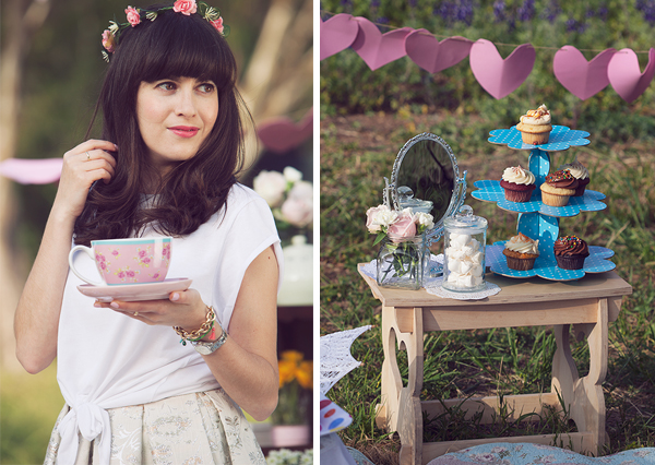 cupcakes, birthday girl, flower crown, fashion blog, דר משיח, יום הולדת ,בלוג אופנה, אפונה בלוג אופנה, קאפקייקס, נשיקות, מסיבת תה
