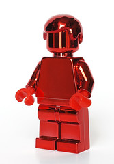 Red chrome minifig