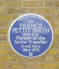Photo of Francis Pettit Smith blue plaque