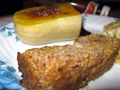 Meatloaf And Butternut Squash Close Up.