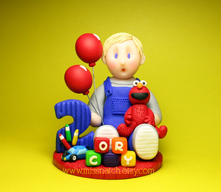 Elmo Theme Birthday Cake Topper
