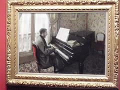 ギュスターヴ・カイユボット 《ピアノを弾く若い男》