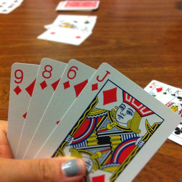 I need a 7 please!! And a manicure!! #cards