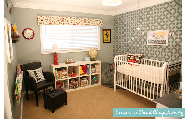 Baby Boy Room: Gray Vintage Nursery 5