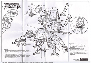 """MEGA MUTANTS"" TEENAGE MUTANT NINJA TURTLES :: NEEDLENOSE / instructions (( 1990 ))"