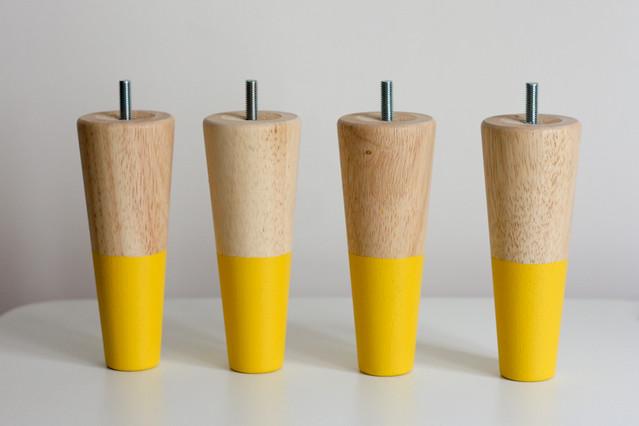 Diy les nouveaux pieds morning by foley for Pied en bois pour meuble