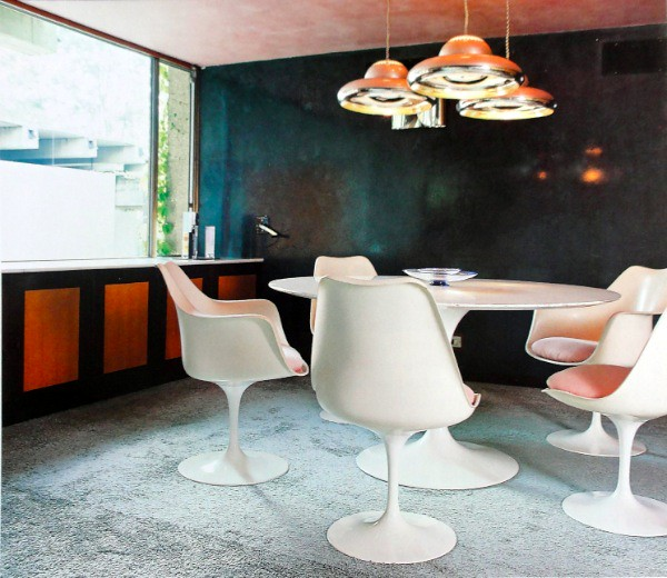 mid century modern living room tulip chairs check here