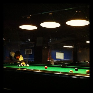 Pool time at Fat Cat