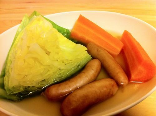 春キャベツ&にんじんのコンソメスープ