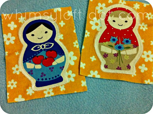 Matryoshka Nesting Doll Printed Felt Cotton Applique