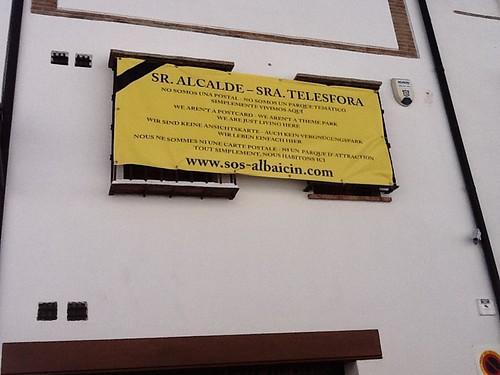 SOS Albaicin pancarta
