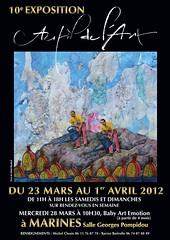 Affiche AU FIL DE L'ART 2012