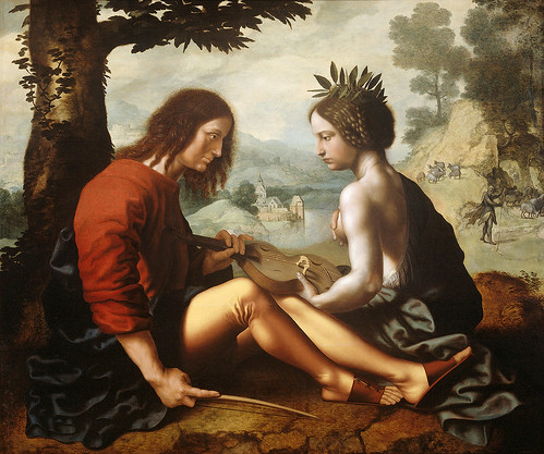 Jan Sanders van Hemessen - Allegorical Scene [c.1550] by Gandalf's Gallery