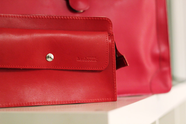 red swedish hasbeens bag