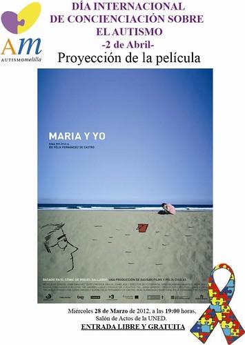 cartel María y yo Autismo Melilla