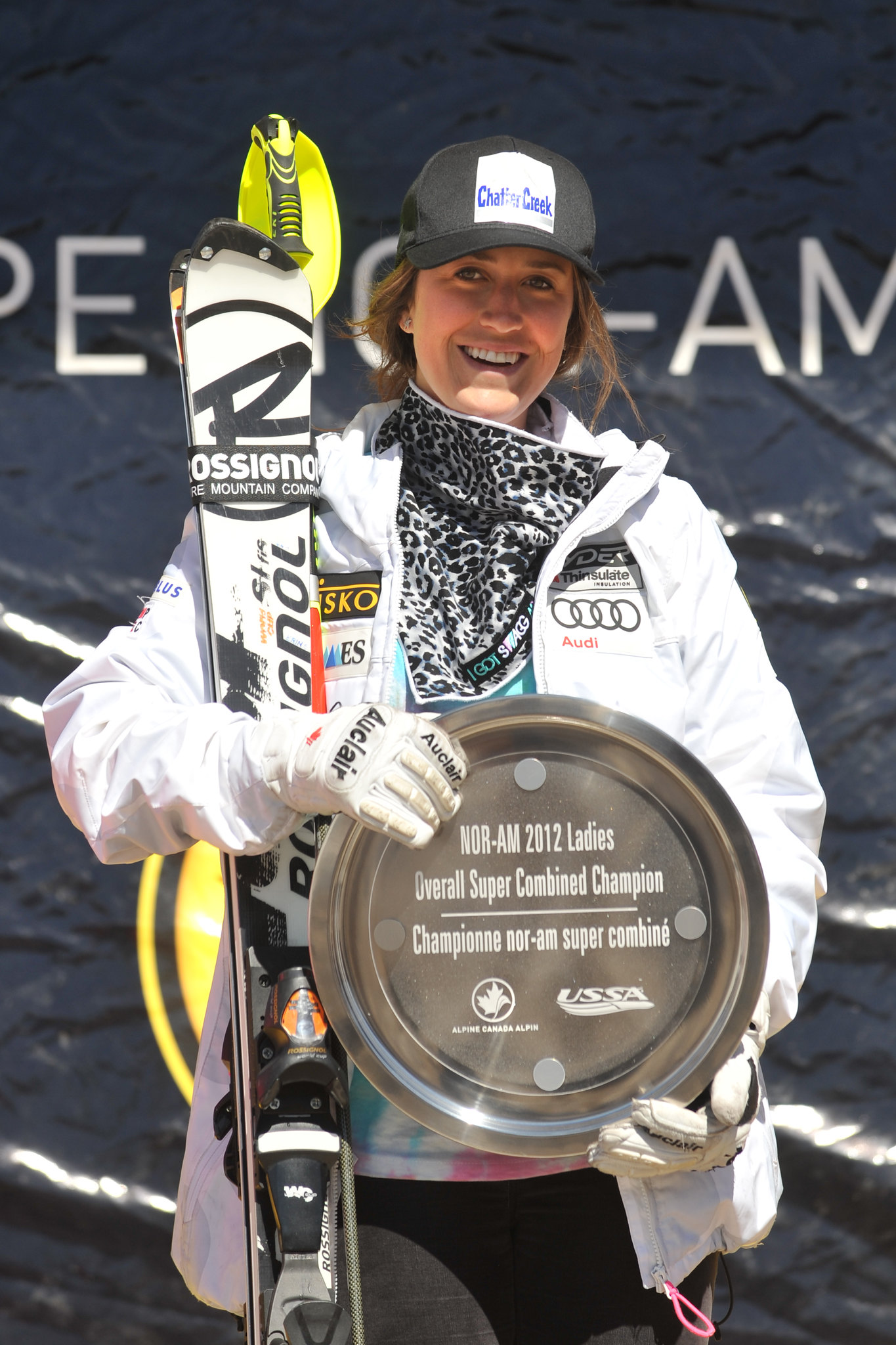 Marie-Pier Préfontaine finishes second in the Nor-Am Cup super combined rankings.