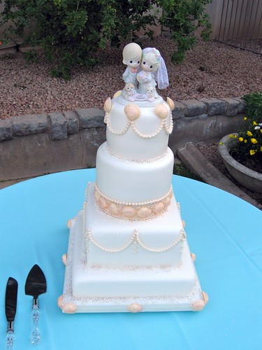 Elegant Pearl Wedding Cake