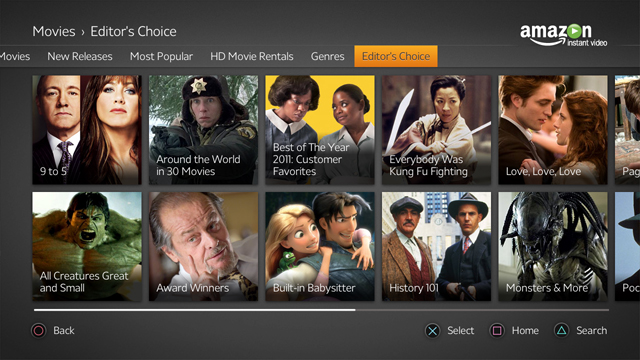 amazon instant video - genres