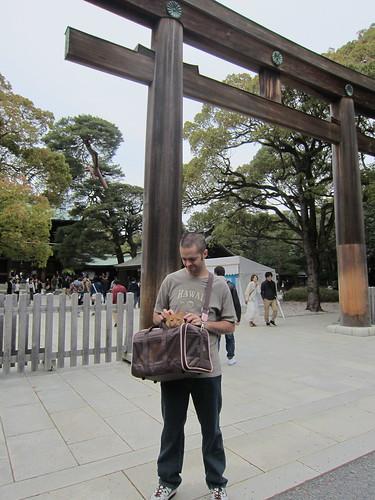 Penny visits Meiji Shrine!