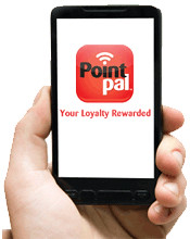 Pointpal replaces traditional paper and ink stamp collecting booklets/cards.