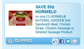 Hormel Natural Choice Meat Coupon