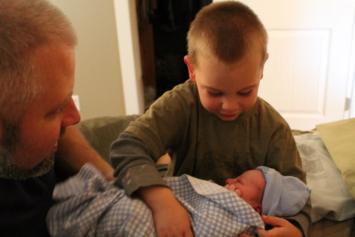 Connor was so thrilled to meet his baby brother!