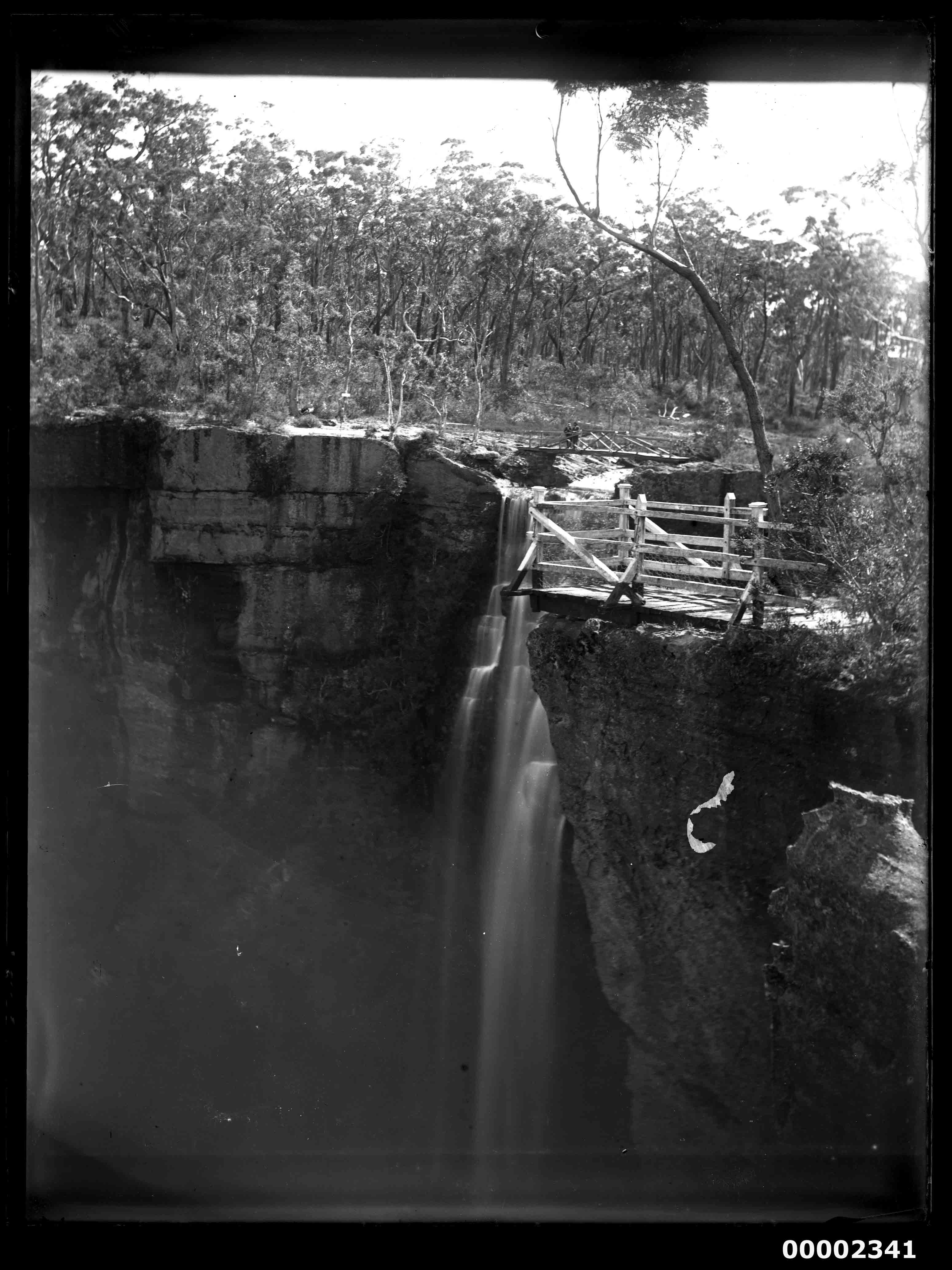 Waterfall, possibly on the Hawkesbury River, NSW, 1880-1909